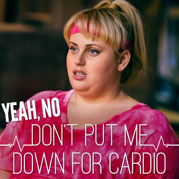 fat amy cardio